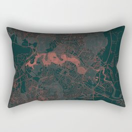 Canberra Map Red Rectangular Pillow