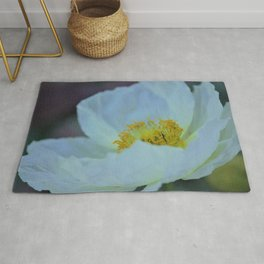 White Poppy of Peace by Reay of Light Rug