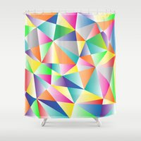 kaleidoscope Shower Curtains featuring Kaleidoscope  by Miss L in Art