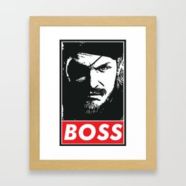 Big Boss - Metal Gear Solid Framed Art Print