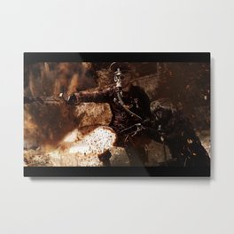 Victory is achieved throught mettle...  Metal Print