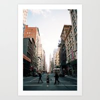New York Stride Art Print