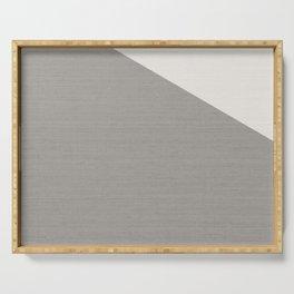 Split Diagonally Grey Geometry Serving Tray