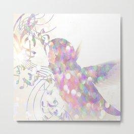 sparkle Birdie Metal Print