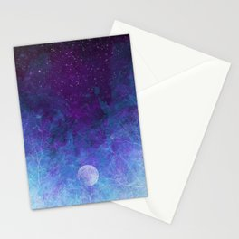 Violet Galaxy: Lunar Eclipse Stationery Cards