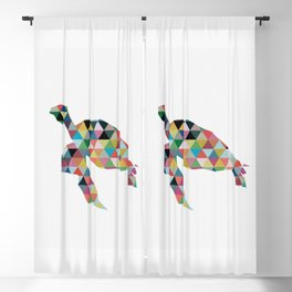Colorful Geometric Turtle Blackout Curtain