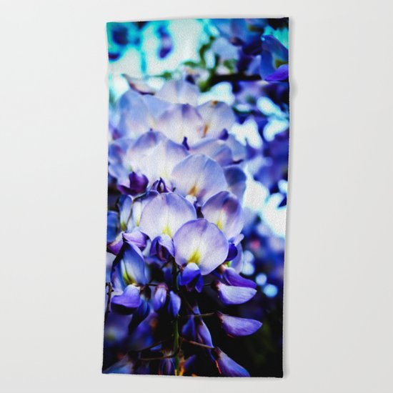 Flowers magic 2 Beach Towel