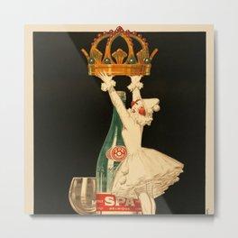 Vintage Spa Monople Source Reine Beverage Advertising Poster Metal Print