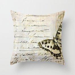 golden butterfly postale Throw Pillow