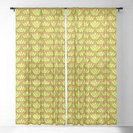 Golden Autumn Pixel Print Sheer Curtain