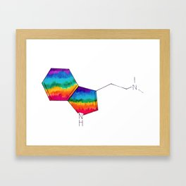 DMT Molecule Framed Art Print