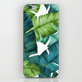 Tropical Banana Leaves Unique Pattern iPhone Skin