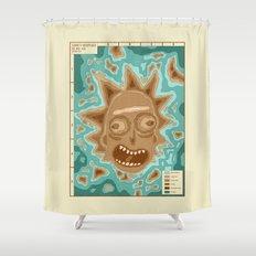 Popography: Schwifty Archipelago Shower Curtain