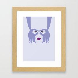 Hand Mask Framed Art Print