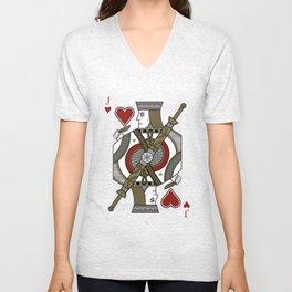 Omnia Illumina Jack of Hearts Unisex V-Neck