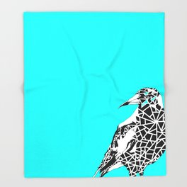 Minty Magpie Throw Blanket