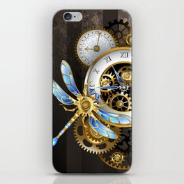 Dials with Dragonfly ( Steampunk ) iPhone Skin