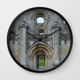 Glastonbury Abbey 1 Wall Clock