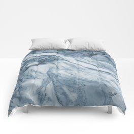 Cipollino Azzurro blue marble Comforters