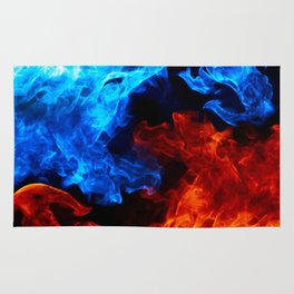 Cinematic Flame Art Rug