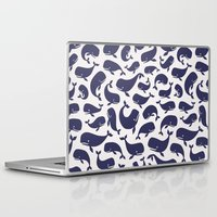 moby dick Laptop & iPad Skins featuring Moby Dick - White by Drivis