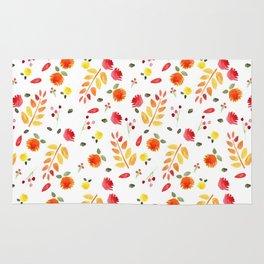 Floral Autumn Pattern Rug