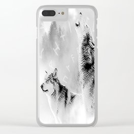 Two Wolves Clear iPhone Case