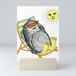 Mega Monster Sunbath Mini Art Print