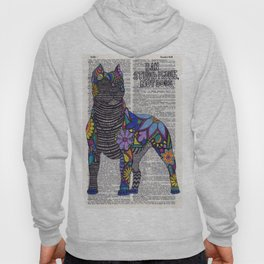 Whimsical Pitbull Dancing on Words Hoody