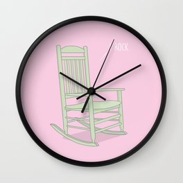 I Rock #kawaii #rock Wall Clock