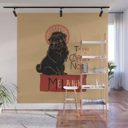 Le Carlin Noir (The Black Pug) Wall Mural