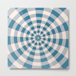 swirled plaid. Metal Print