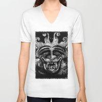 mythology V-neck T-shirts featuring Shadow Beast Mythology by Anya Campbell by BohemianBound
