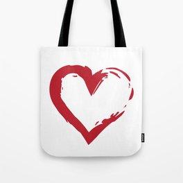 Heart Shape Symbol Tote Bag