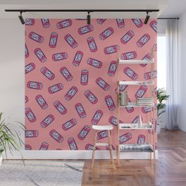 Girl Power Pattern in Pink Wall Mural