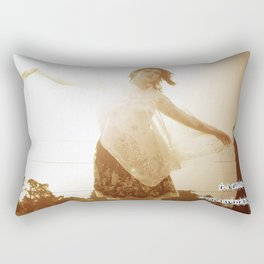 Rain, rain come this way, make the sun please go away  Rectangular Pillow