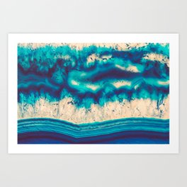 Blue Agate Water Element Art Print