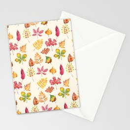 Autumn Leaves Pattern Stationery Cards