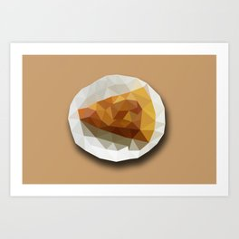 Pizza Slice on a Plate Geometry Polygon Design Illustration Art Print