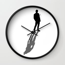 My Real Nature Is In My Shadow Wall Clock