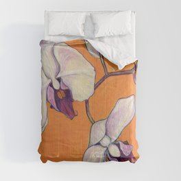 Orchid on Orange Comforters