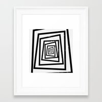 illusion Framed Art Prints featuring Illusion by Janet Datu
