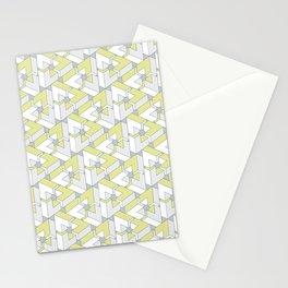 Triangle Optical Illusion Lemon Medium Stationery Cards