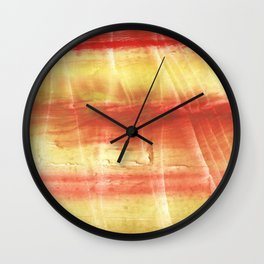 Red yellow Wall Clock