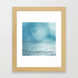 Cleanse me Psalm 139 Framed Art Print