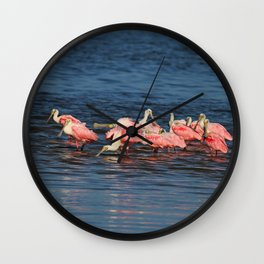 Wings in the Water Wall Clock