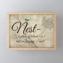 Nest Framed Mini Art Print