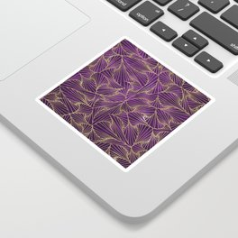 Tangles Violet and Gold Sticker