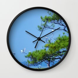 Flock of Cranes Wall Clock