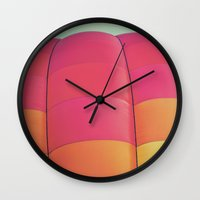 balloon Wall Clocks featuring Balloon by Jessica Torres Photography
